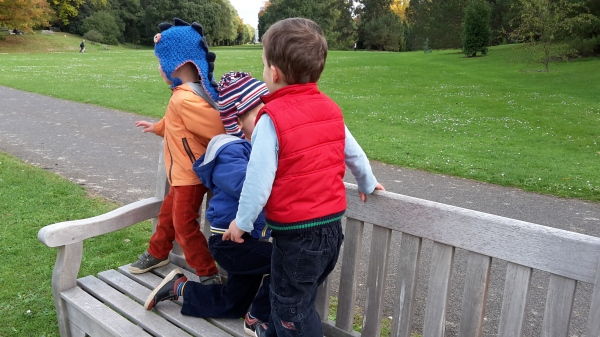 boys on bench