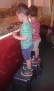 Model railway + footstools = joy