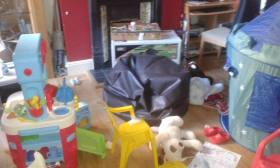 ransacked house