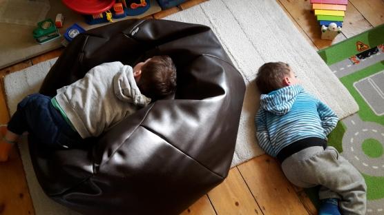 boys on beanbag