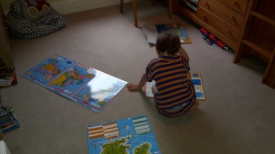 boy with maps