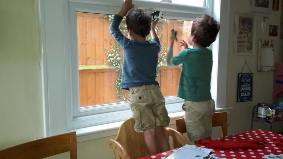 boys at window