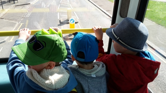 boys on the bus